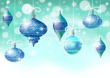 Fond de Noël avec des billes de Noël illustration stock