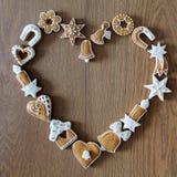 Fond de Noël avec des biscuits Images libres de droits