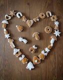 Fond de Noël avec des biscuits Image stock