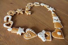 Fond de Noël avec des biscuits Photo libre de droits
