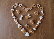 Fond de Noël avec des biscuits Images stock