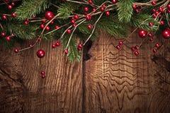 Fond de Noël avec des branches de sapin Image stock
