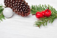 Fond de Noël avec des branches de sapin Photos libres de droits