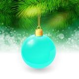 Fond de Noël avec des brindilles et Noël de sapin Photo libre de droits