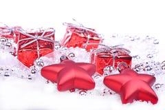 Fond de Noël avec des cadeaux Images stock