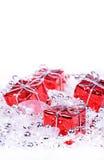 Fond de Noël avec des cadeaux Image stock