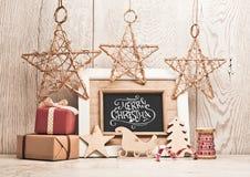 Fond de Noël avec des cadeaux image libre de droits