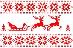 Fond de Noël avec des cerfs communs Photo stock