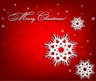Fond de Noël avec des flocons de neige Photographie stock libre de droits