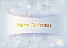 Fond de Noël avec des flocons de neige Images libres de droits