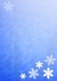 Fond de Noël avec des flocons de neige Photo libre de droits