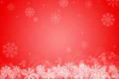 Fond de Noël avec des flocons de neige image libre de droits