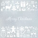 Fond de Noël avec des icônes illustration libre de droits