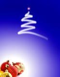 Fond de Noël avec des ornements Photo libre de droits