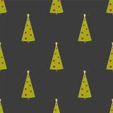 Fond de Noël avec des sapins Illustration tirée par la main illustration stock