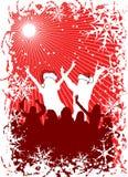 Fond de Noël avec des silhouettes, vecteur illustration de vecteur