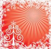 Fond de Noël avec flocons de neige, vecteur illustration stock