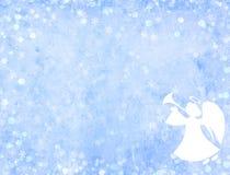 Fond de Noël avec l'ange illustration stock