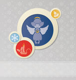 Fond de Noël avec l'ange et le Noël Image libre de droits