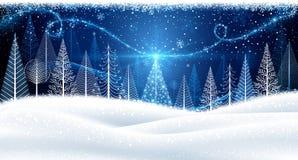 Fond de Noël avec l'arbre magique Photographie stock libre de droits