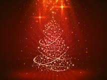 Fond de Noël avec l'art d'arbre illustration libre de droits