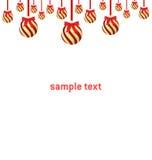 Fond de Noël avec la bille Photo stock