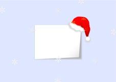 Fond de Noël avec la feuille de papier Photographie stock libre de droits