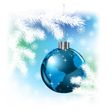 Fond de Noël avec la planète Photo libre de droits
