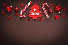Fond de Noël avec la sucrerie Photos libres de droits
