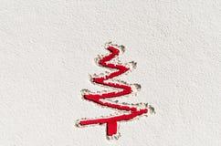 Fond de Noël avec la texture fraîche de neige Image prise d'en haut, vue supérieure Image libre de droits