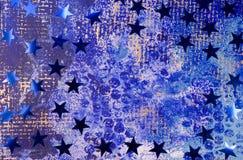 Fond de Noël avec le bleu Image libre de droits
