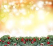Fond de Noël avec le bokeh Photo libre de droits