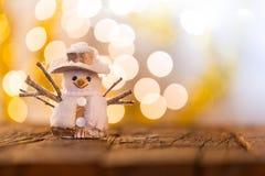 Fond de Noël avec le bonhomme de neige Photographie stock libre de droits