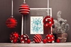Fond de Noël avec le cadre Photos stock
