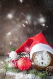 Fond de Noël avec le chapeau de Santa photos libres de droits
