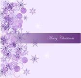 Fond de Noël avec le flocon de neige Image libre de droits