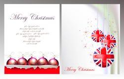Fond de Noël avec le papier et la boule déchirés Photo libre de droits