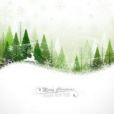 Fond de Noël avec le renne illustration stock