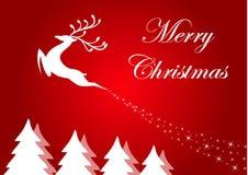 Fond de Noël avec le renne Photo libre de droits