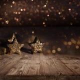 Fond de Noël avec les étoiles éclatantes Photo stock
