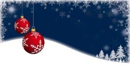 Fond de Noël avec les babioles rouges de Noël illustration libre de droits
