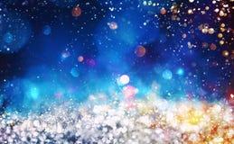 Fond de Noël avec les cristaux scintillants argentés Images libres de droits