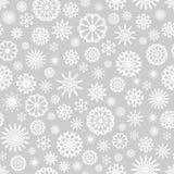 Fond de Noël avec les flocons de neige blancs Photos stock