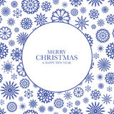 Fond de Noël avec les flocons de neige bleus Photographie stock