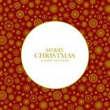 Fond de Noël avec les flocons de neige d'or Photo libre de droits