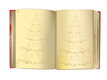 Fond de Noël avec un livre gentil de cru Images libres de droits