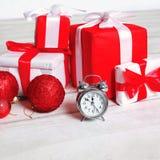 Fond de Noël, beaucoup de cadeaux Photo stock