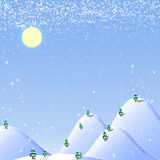 Fond de Noël blanc illustration stock