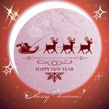 Fond de Noël de Brown avec la lune illustration libre de droits