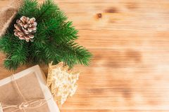 Fond de Noël Décoration d'an neuf photos stock